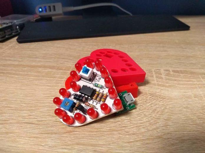 Corazón led PCB