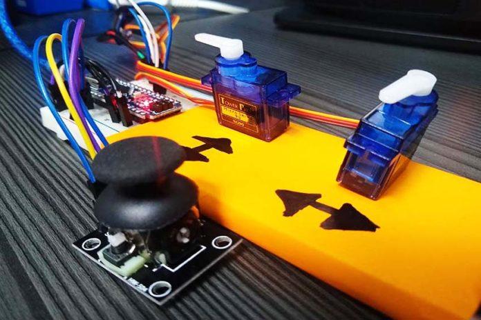 Movimiento de Servomotores SG90 con Módulo KY-026 Sensor Joystick