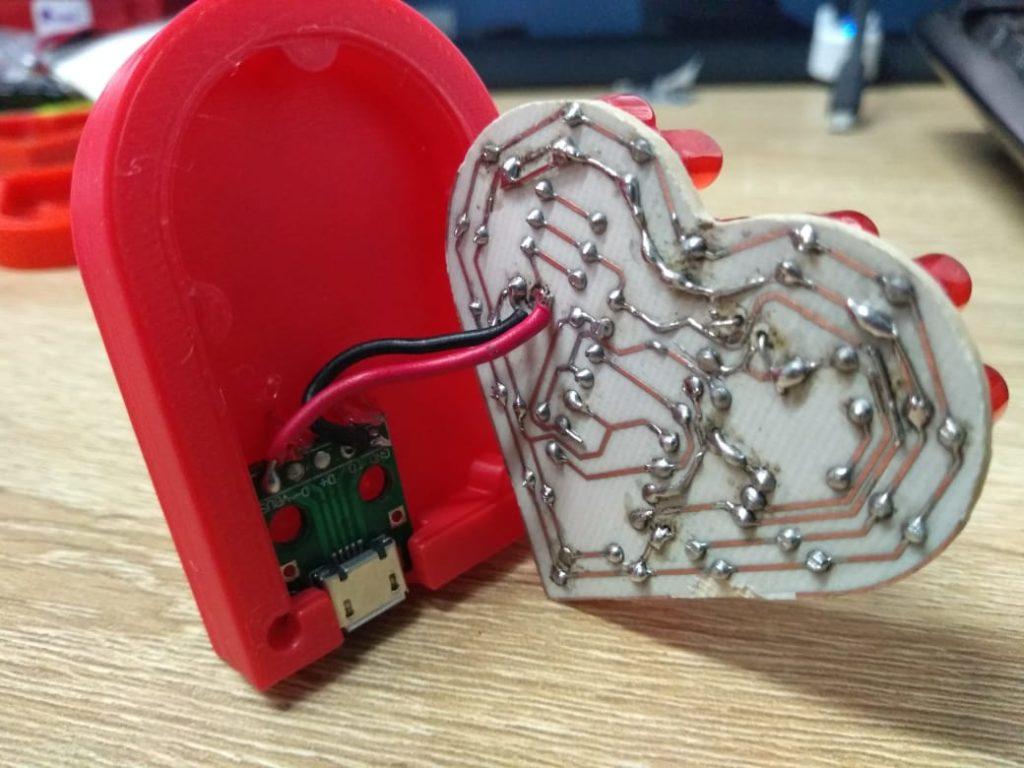 Corazón PCB Led